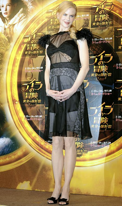 All eyes on pregnant Nicole Kidman - and her see-through