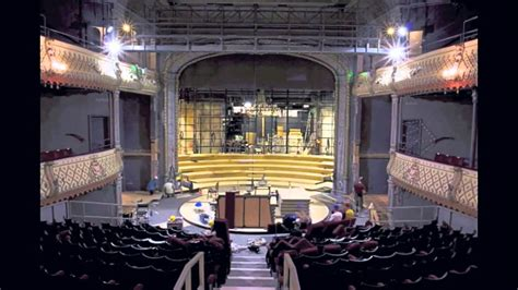 The Old Vic is transformed into an in-the-round auditorium