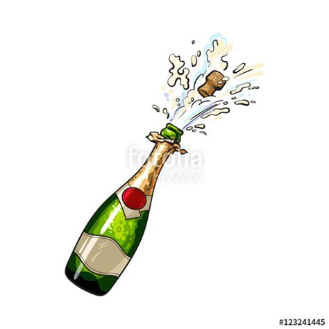 Champagne Bottle Drawing at GetDrawings   Free download