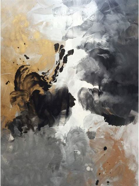 Black and gold art | Aces High abstract painting by Swarez