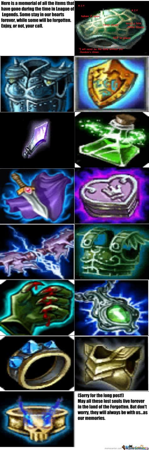 The Lost Items Of League Of Legends by obama_needs_titties