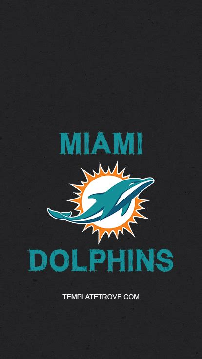 2019-2020 Miami Dolphins Lock Screen Schedule for iPhone 6