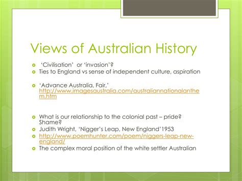 PPT - Poetry and Australian Identities PowerPoint