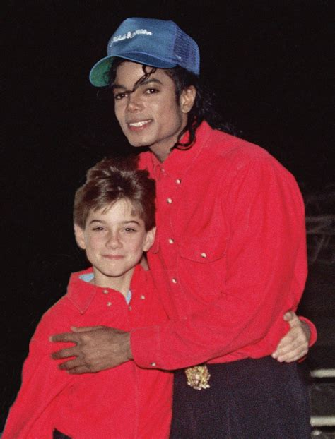 Michael Jackson with accuser James Safechuck   February