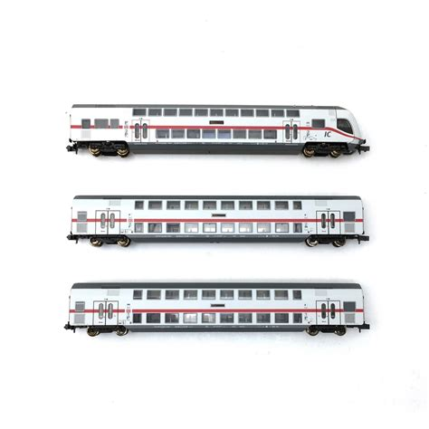 2 voitures IC2 + voiture pilote DB AG Ep VI-N 1/160