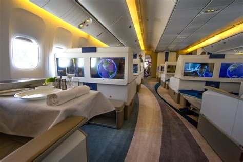 Plenty of legroom on 777 tailored for the world's richest