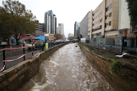 Hobart clean-up begins after heavy rain, wind, flooding