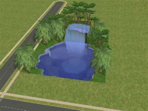 Sims2 How to make a Waterfall - YouTube