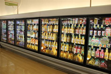 Grocery Store Variety Of Soda Editorial Stock Image